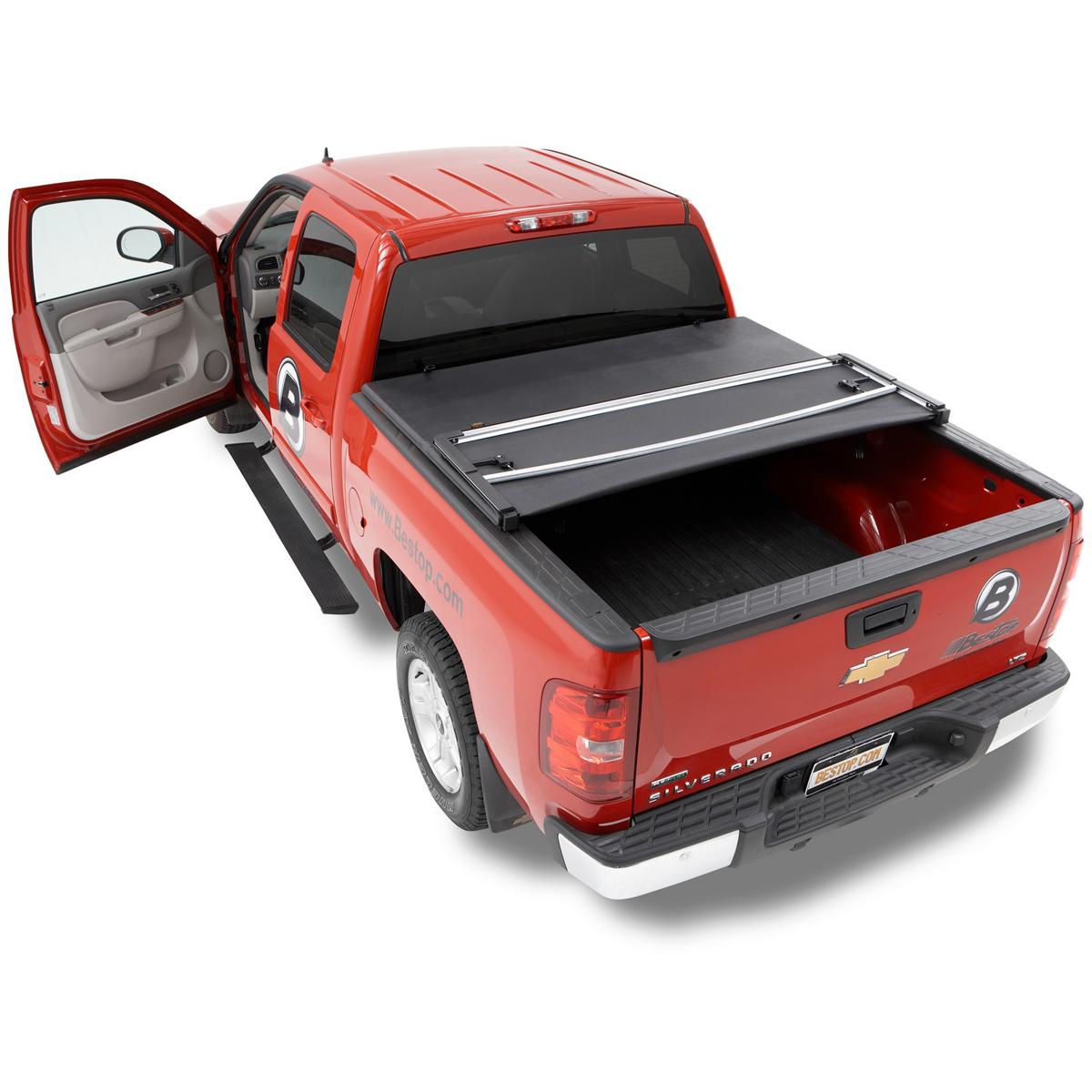 Bestop Powerboard Automatic Running Boards For Dodge Ram: 16211-01 Bestop EZ Fold Tonneau Cover For Silverado