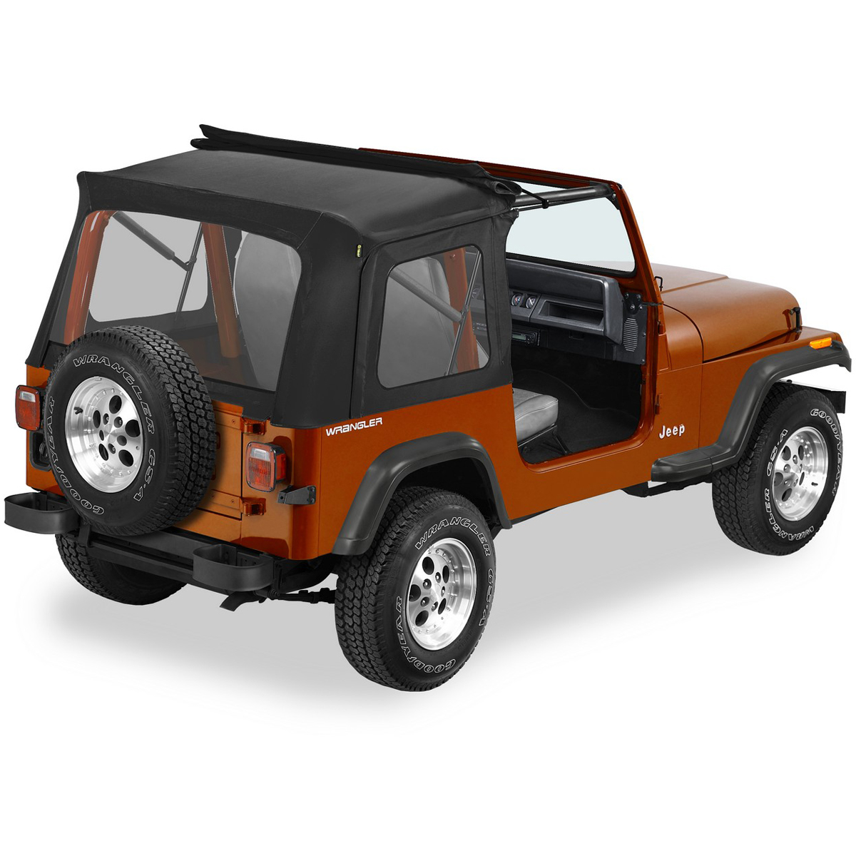 Best Top For Jeep: 51698-01 Bestop Sunrider Complete Soft Top Black For Jeep