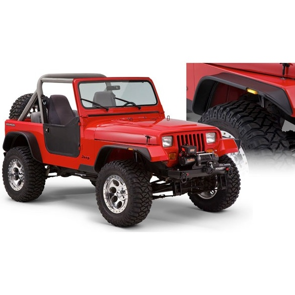 07 bushwacker flat style fender flares jeep wrangler yj 87 95 ebay. Cars Review. Best American Auto & Cars Review
