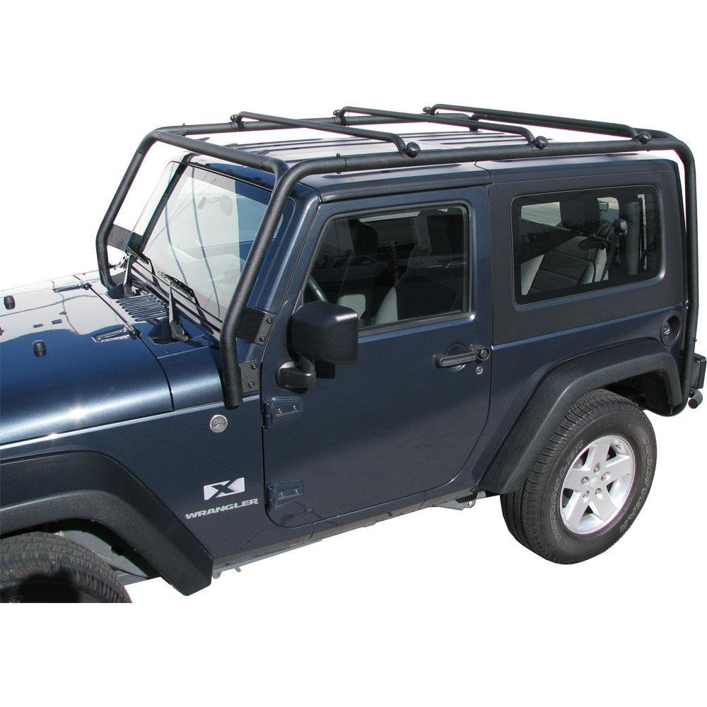 Jeep Wrangler Luggage Rack: J021 Trail FX Black Roof Rack Jeep Wrangler 2 Door 2007