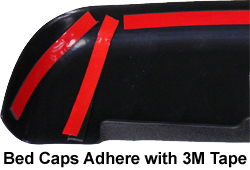 Bed Caps Adhere with 3M Tape