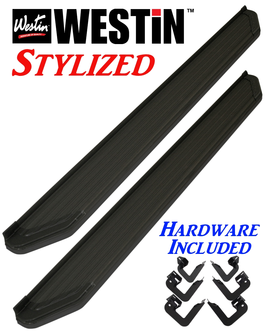 Image is loading 28 21175 westin black stylized running boards ford