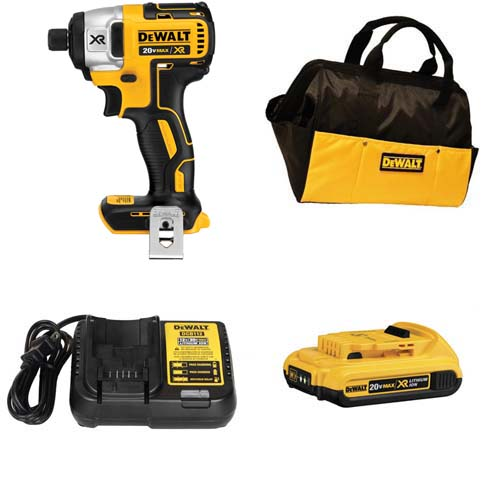 Dewalt dcf886d1r 20v xr lithium ion brushless 1 4 inch for Dewalt 20v brushless motor