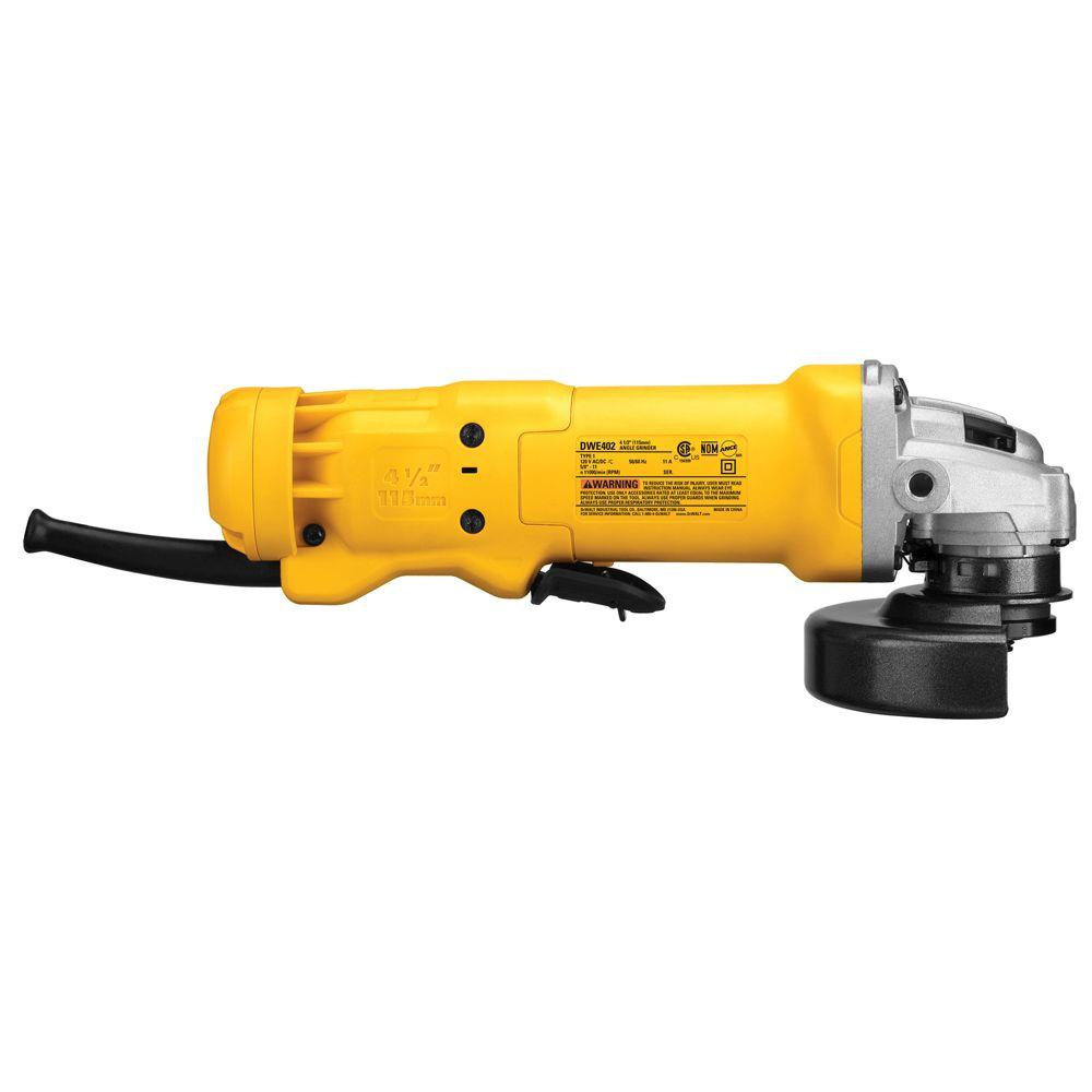De Walt Electric Grinder ~ Dewalt dwe w r paddle switch corded electric small angle
