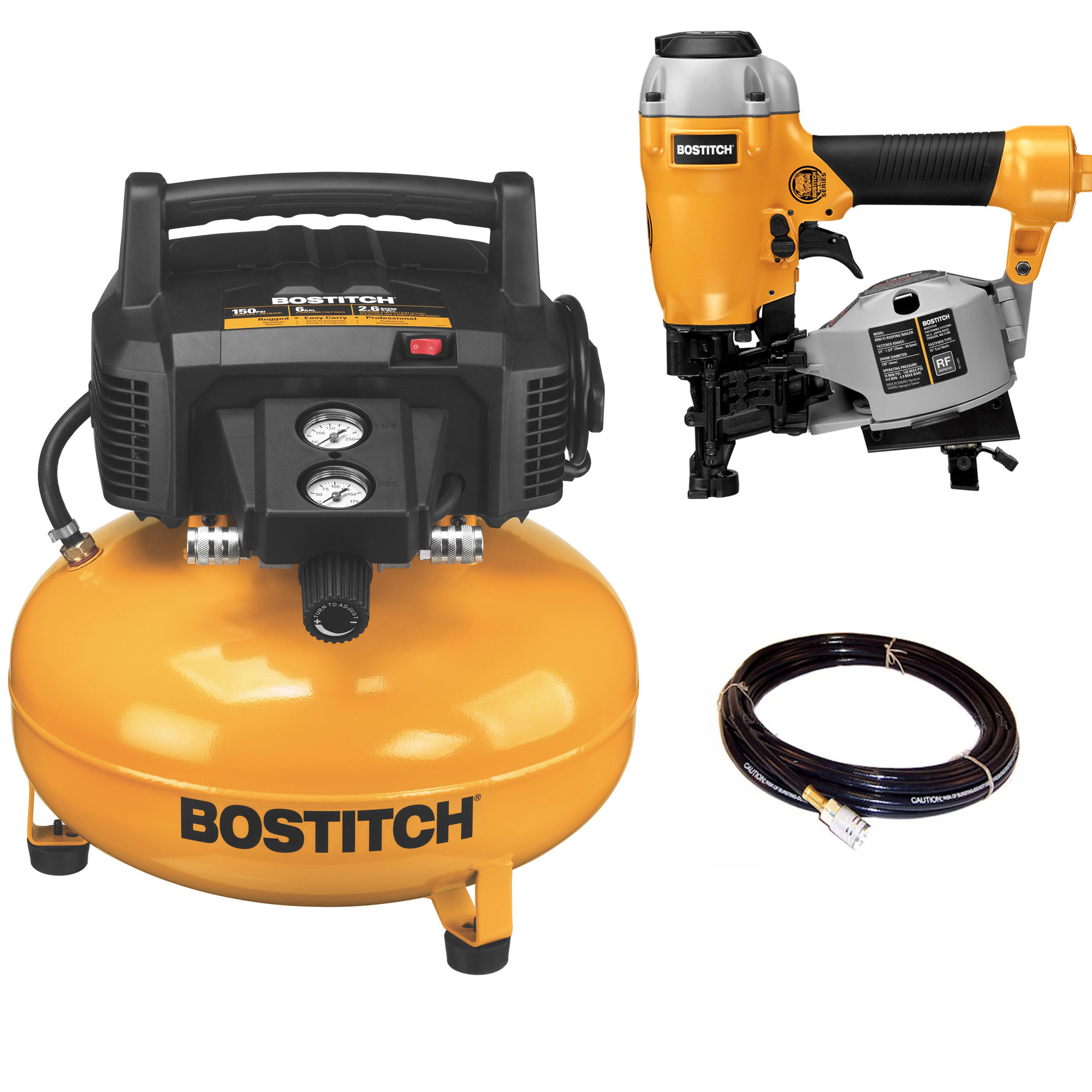 Image Is Loading BOSTITCH 6 Gal 150 PSI Oil Free Portable