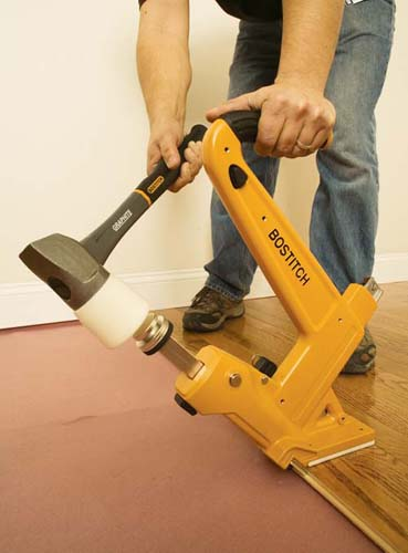 Engineered flooring engineered flooring nail gun for Hardwood floors nail gun