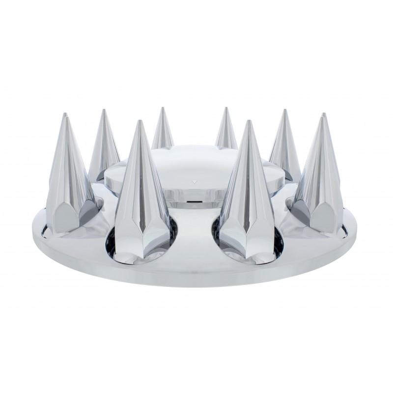 Semi Truck Hub Caps : Chrome plastic semi truck front wheel axle hub covers
