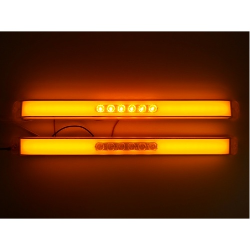 "United Pacific (2) "" GLO BAR "" Clear Amber 28 LED 17"" Trailer Truck Marker Turn Signal Lights at Sears.com"