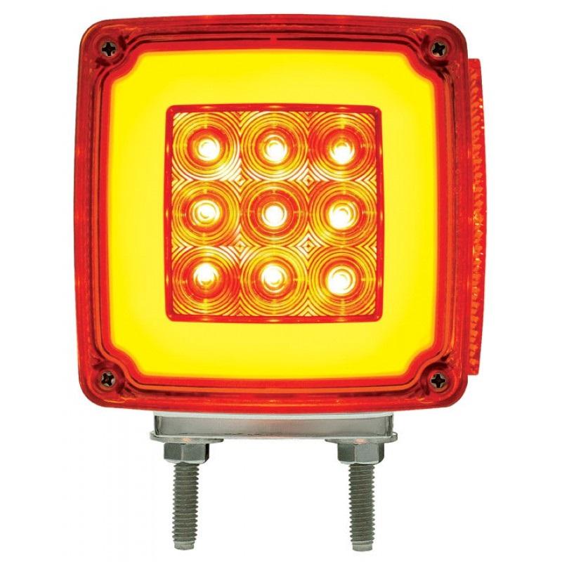 Semi Fender Lights : Led red amber halo glow side marker turn signal