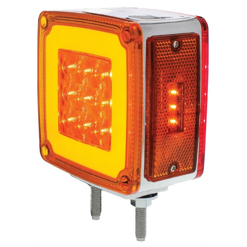 Semi Trailer Lights Led : Led red amber halo glow side marker turn signal