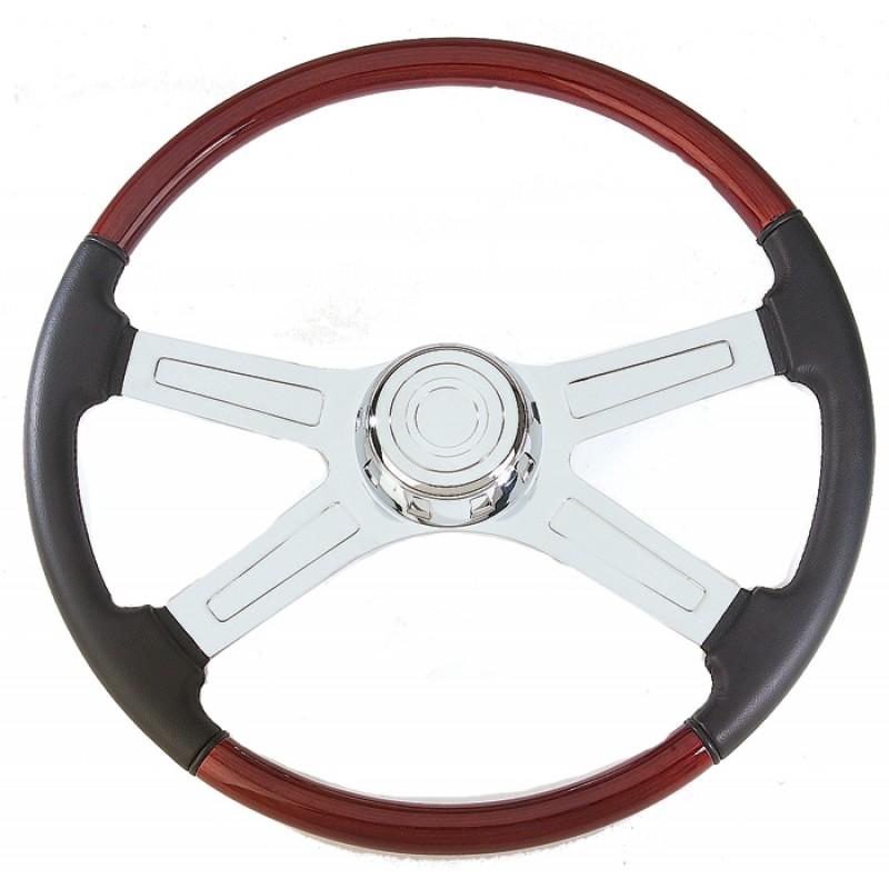 Semi Chrome Wheel Covers : Kenworth may march semi truck quot four spoke