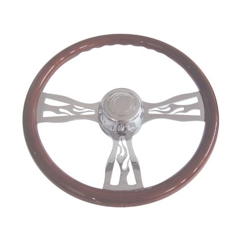 Semi Chrome Wheel Covers : Kenworth on semi truck quot chrome flame design