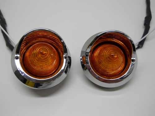 2 Amber 2 Quot Round 9 Led Beehive Mini Marker Turn Signal