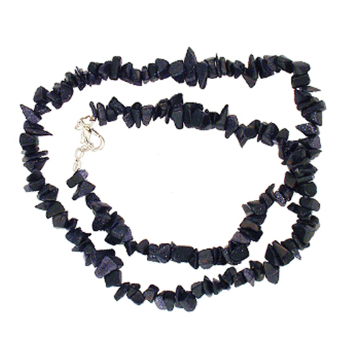 """BCAY Beads BLUE GOLDSTONE 18"""" CHIP NECKLACE W/ SS CLASP at Sears.com"""