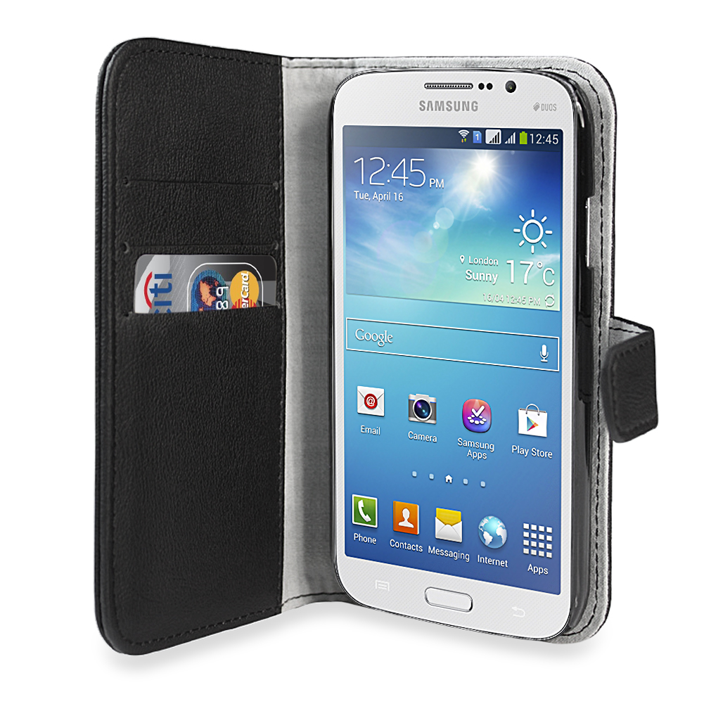 Horizontal Belt Clip Leather Holster Pouch Case for Samsung Galaxy Mega 5.8 I9150 I9152