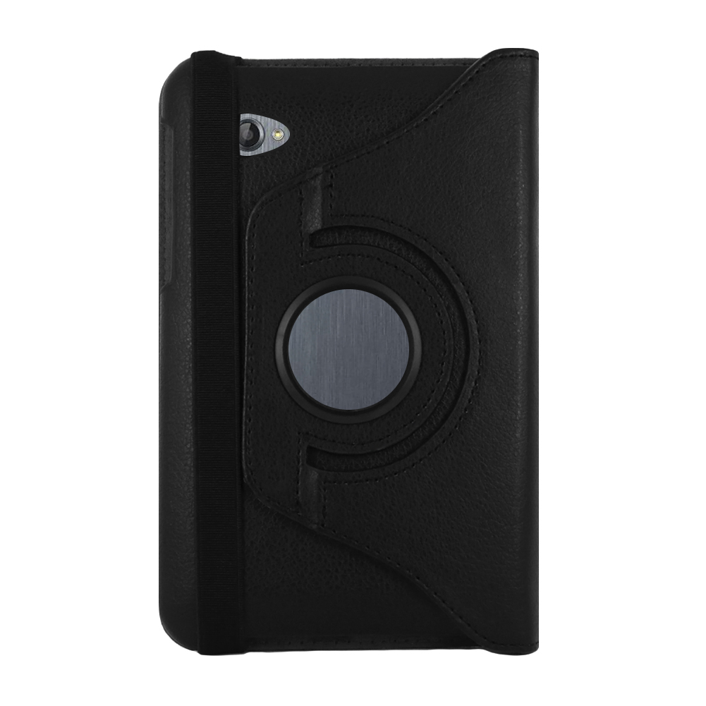 """Samsung Galaxy Tab 7.0"""" Inch P6200 Plus Folio 360 Rotating 2-in-1 PU Leather Case and Cover (Black)"""