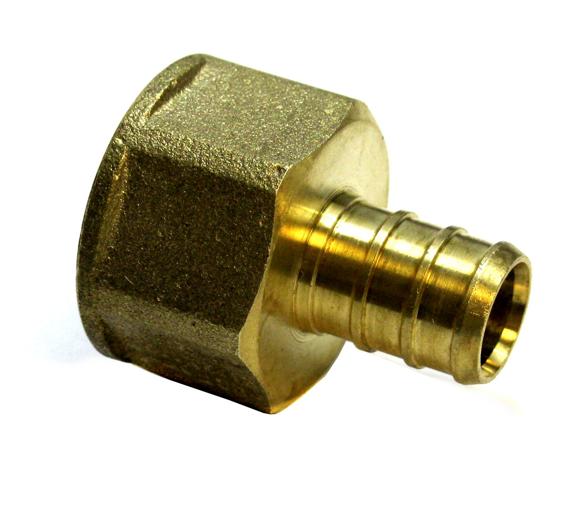 Quot pex female adapter npt inch brass pack of