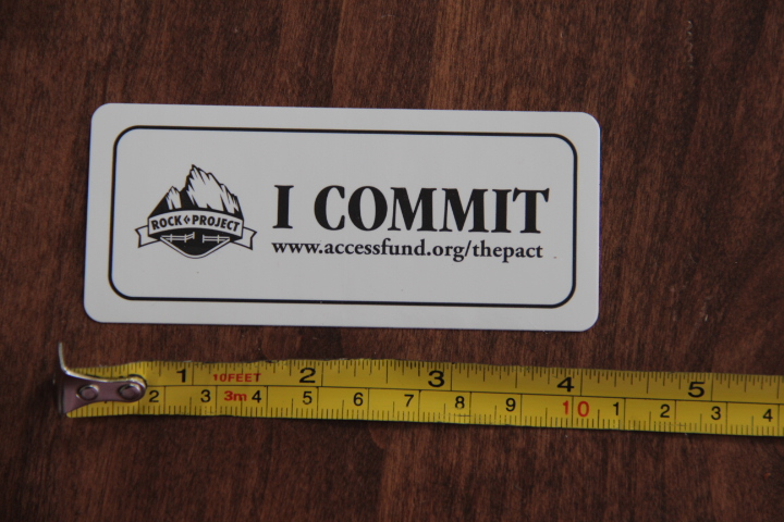 ACCESS FUND Sticker Decal I COMMIT Rock Project NEW