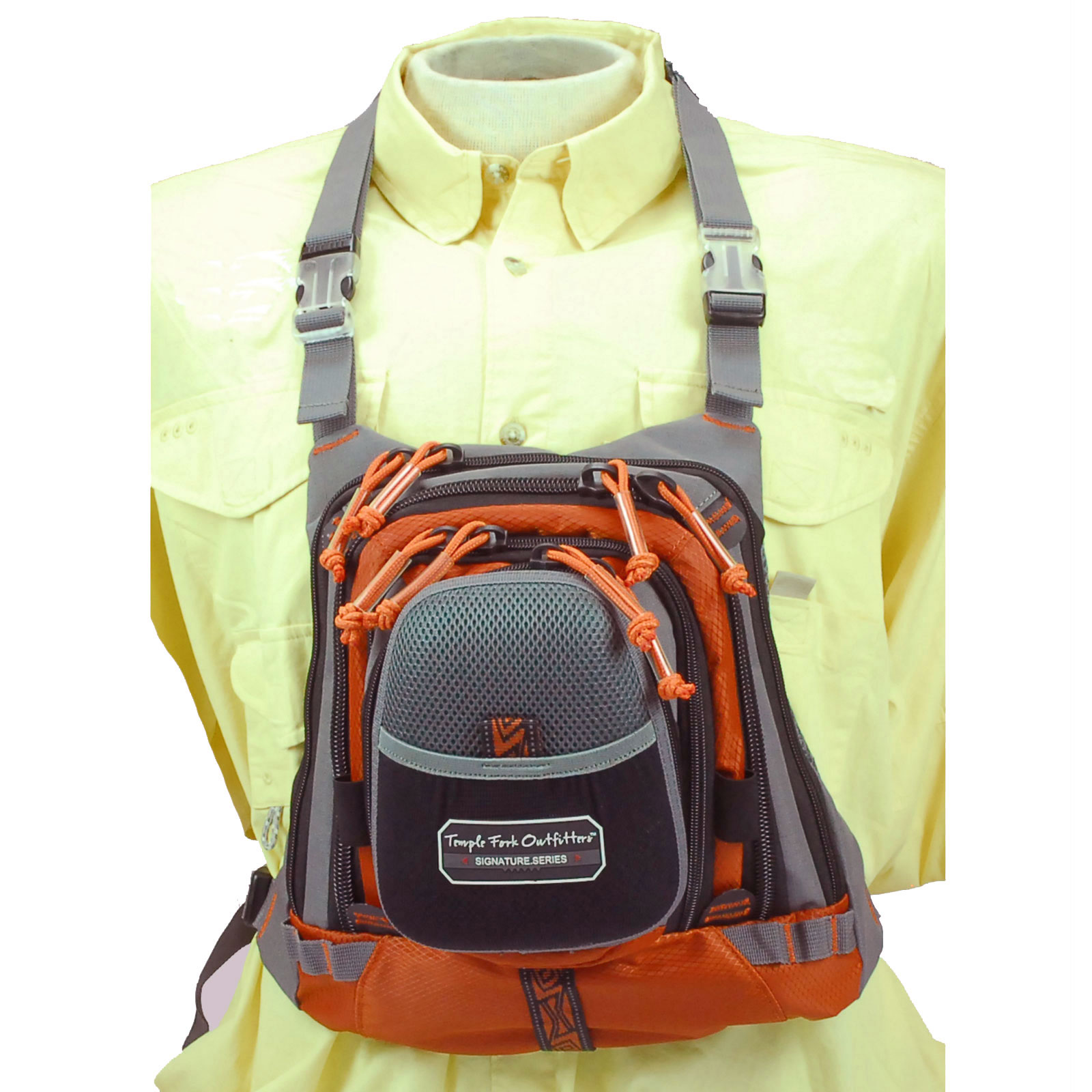 Tfo medium size chest pack w front drop pocket fly fishing for Fishing bags walmart
