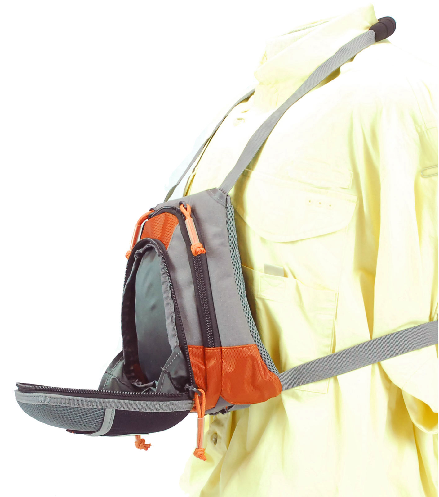 Tfo small size chest pack w front drop pocket fly fishing for Fly fishing packs