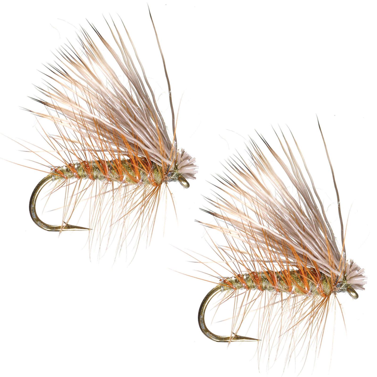 Umpqua elk hair caddis olive fly fishing dry flies multi for Fly fishing flys