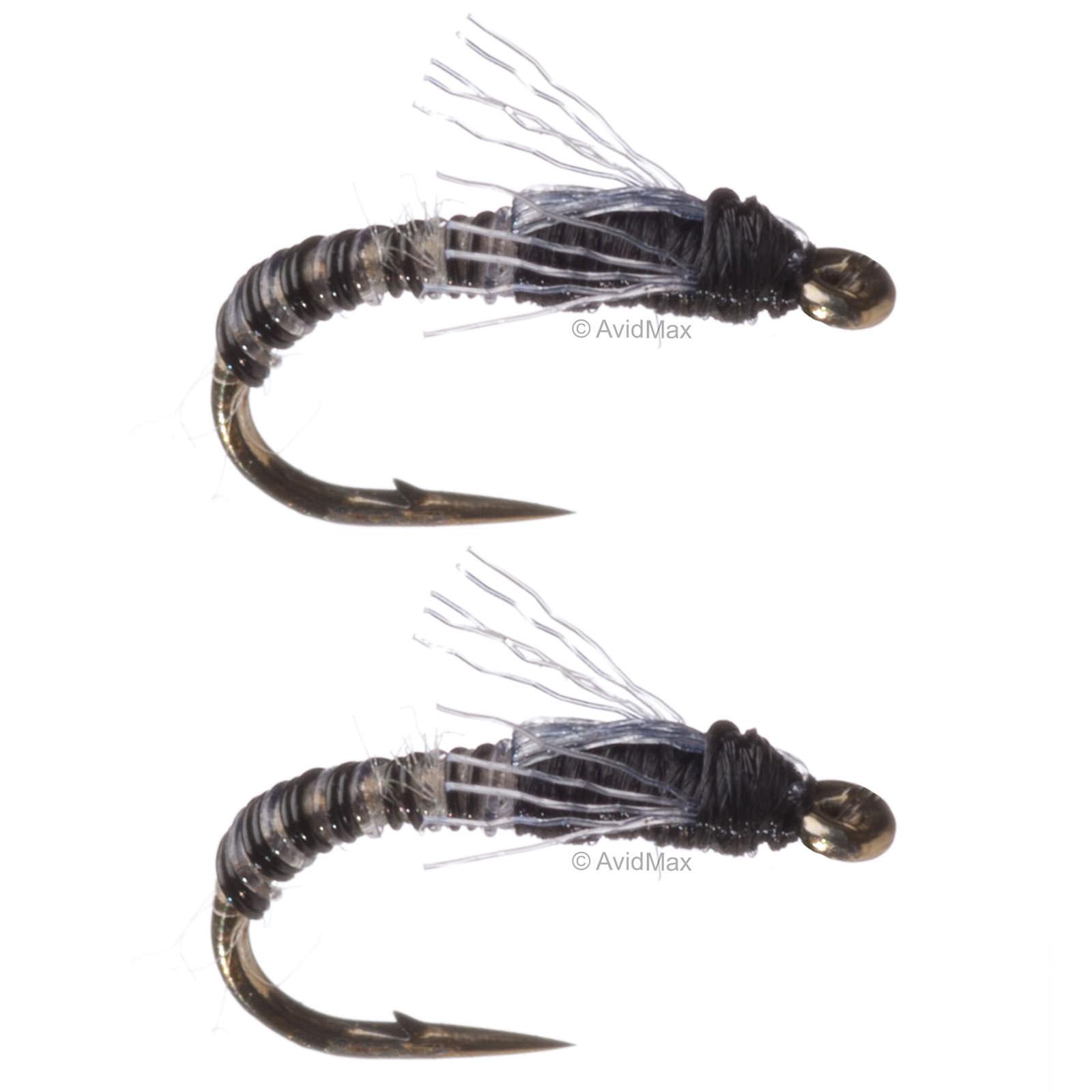 Umpqua craven 39 s jujubee midge zebra fly fishing midges for Midge fly fishing