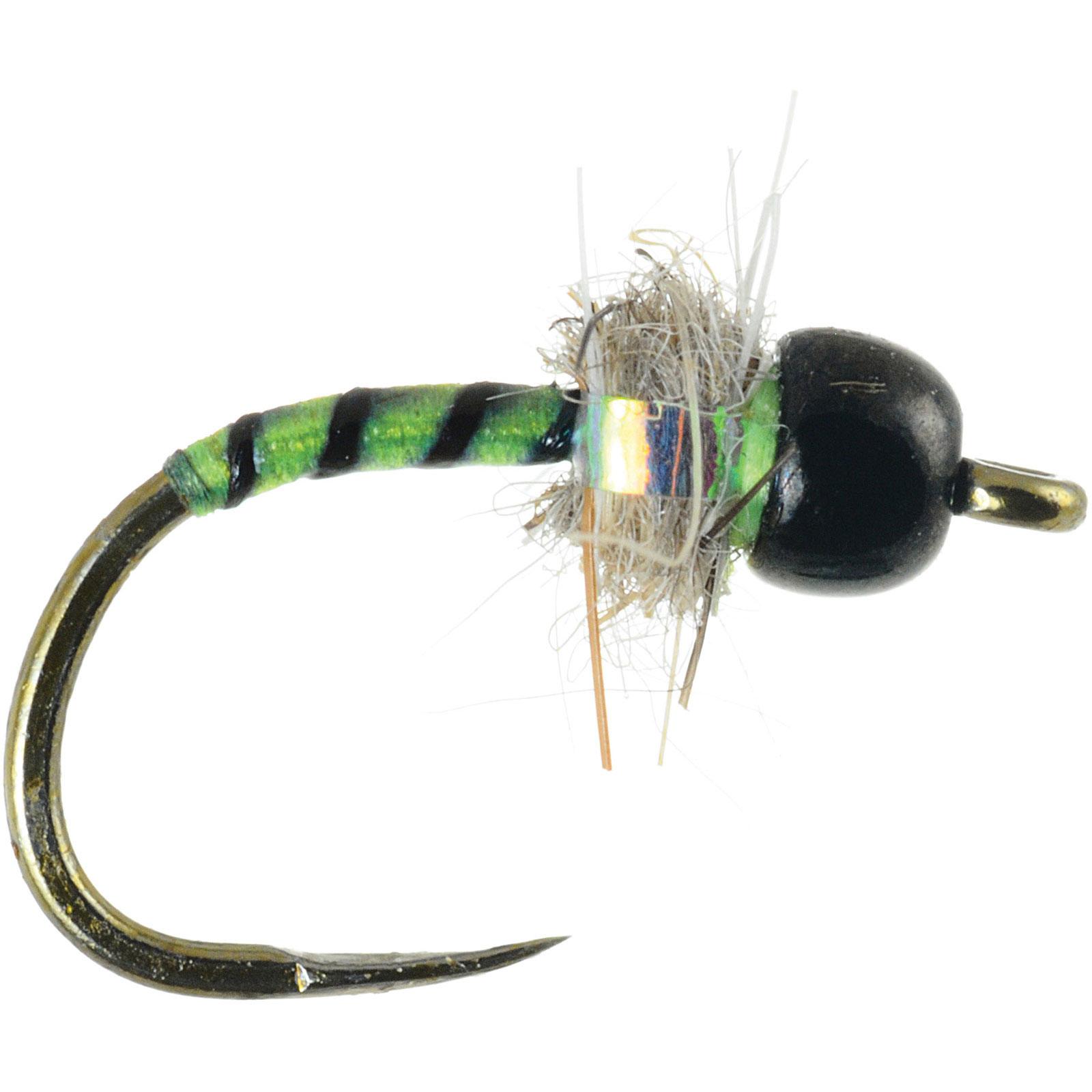 Umpqua icu midge tungsten chartreuse fly fishing midges for Midge fly fishing