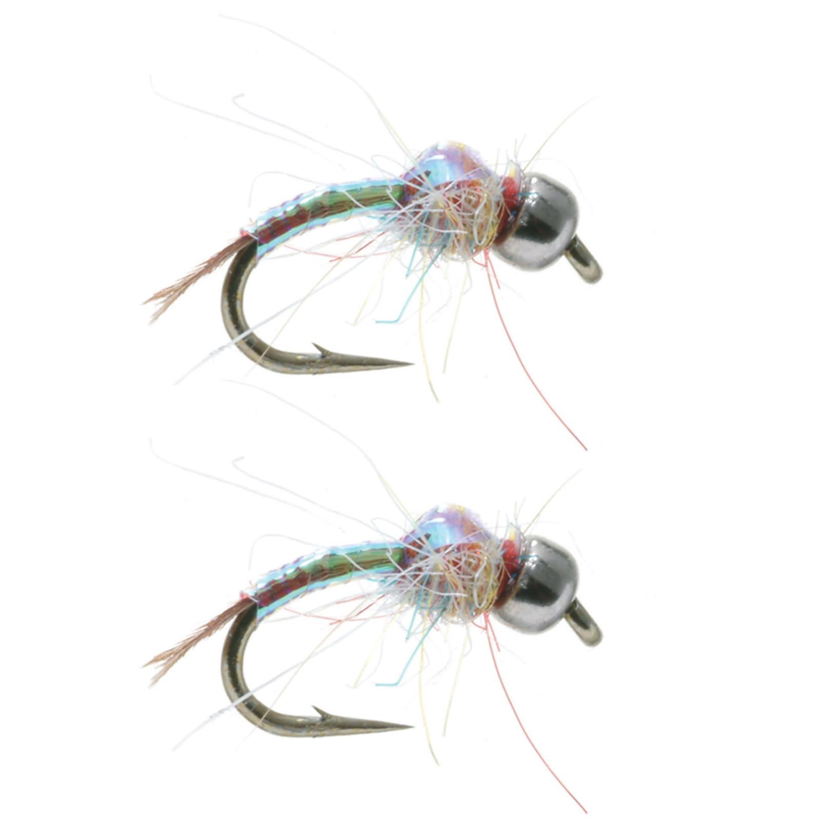 Rainbow Warrior Midge: Umpqua Rainbow Warrior Silver Bead Head Fly Fishing