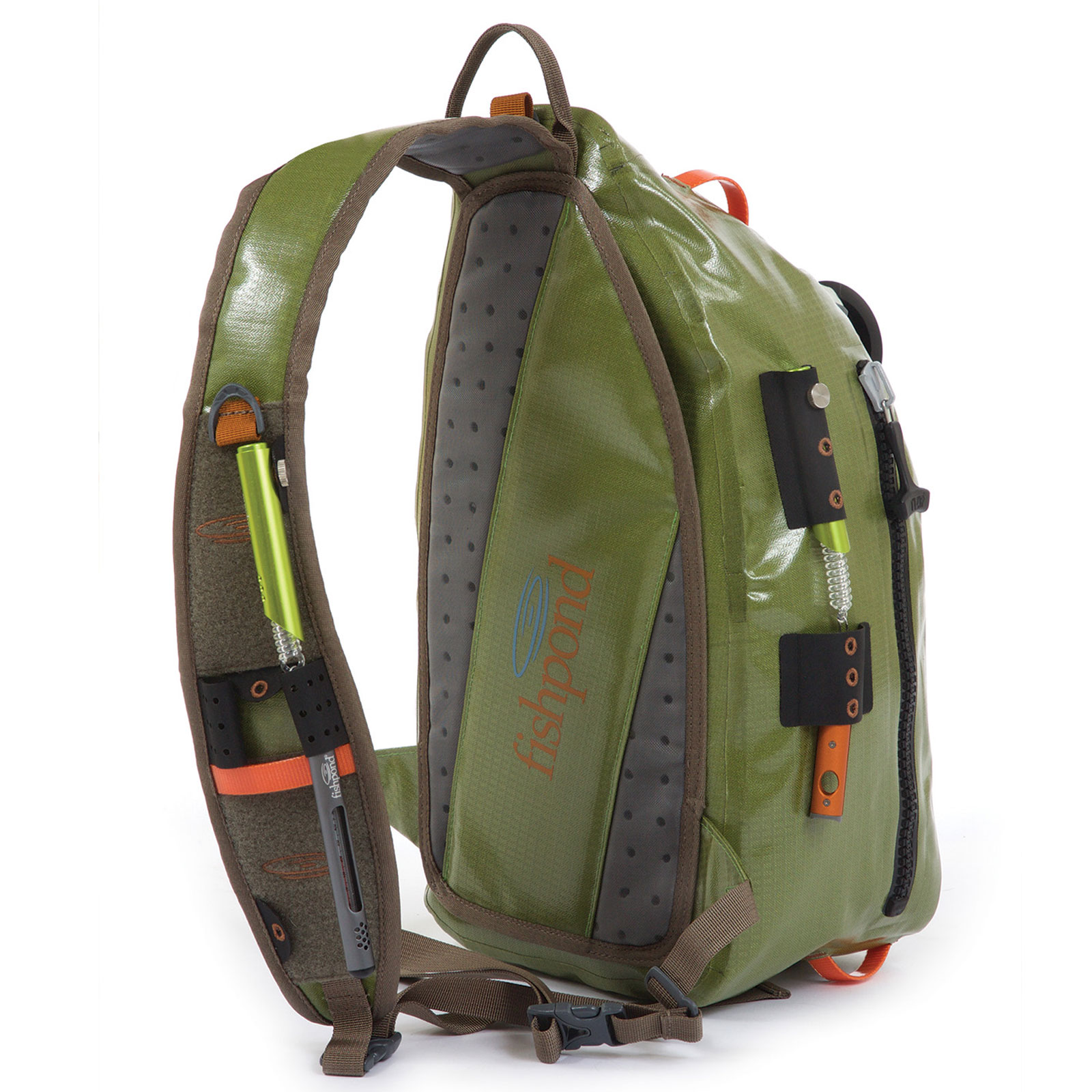 Fishpond thunderhead sling pack green fly fishing bag for Fly fishing sling pack