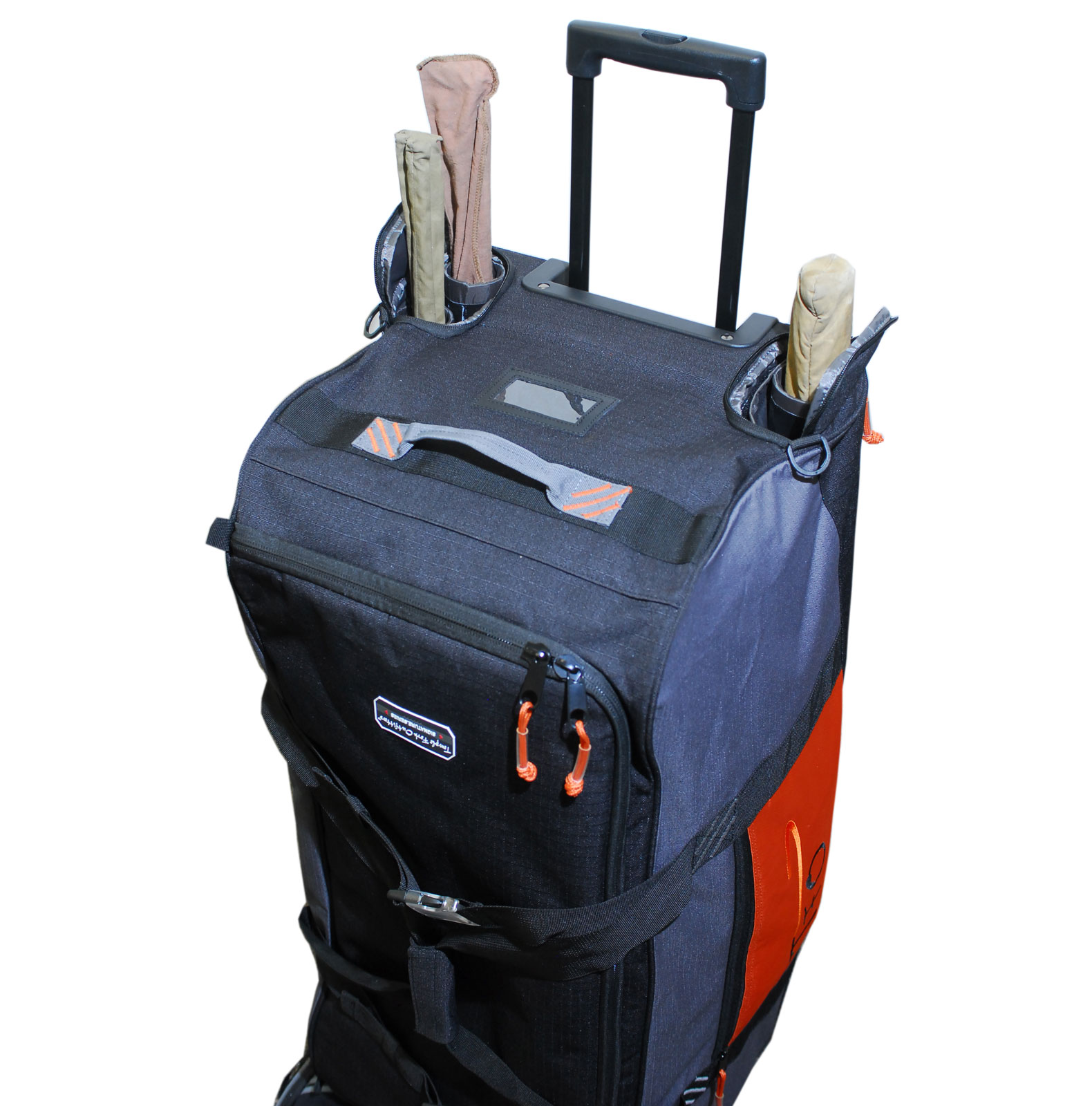 Tfo large rolling fly cargo bag fishing luggage wheeled for Fly fishing luggage