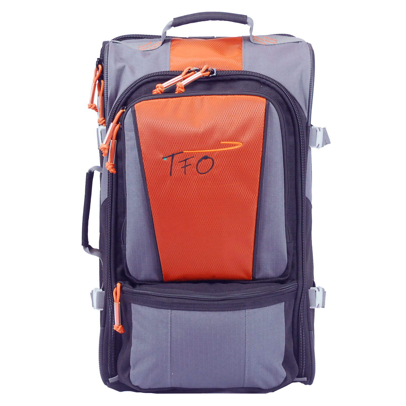 Tfo rolling carry on bag fly fishing durable wheeled for Fishing bags walmart