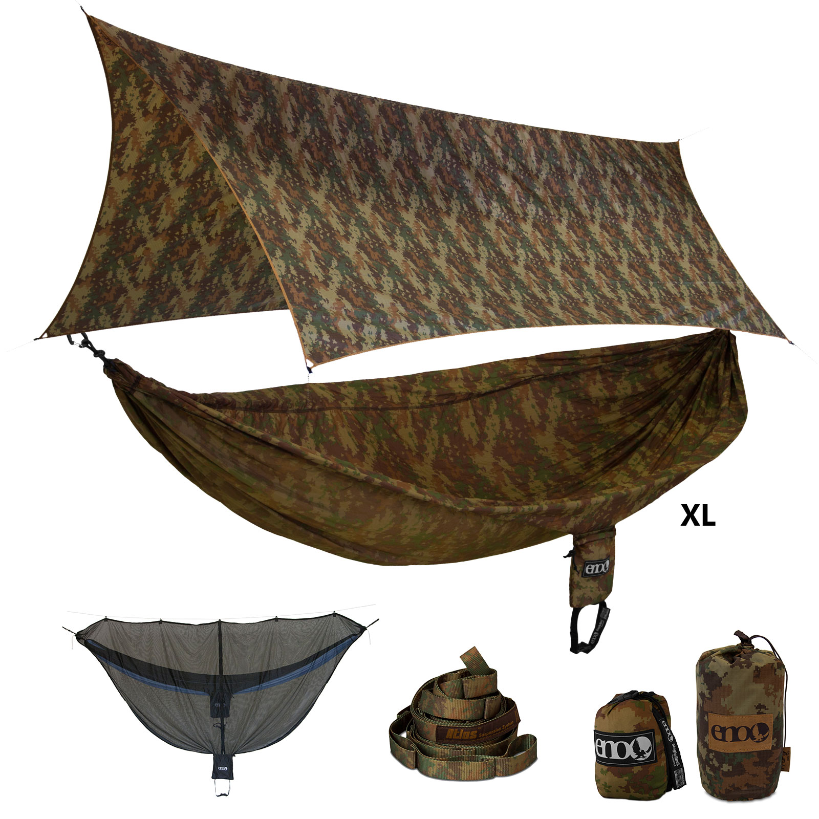Eno Camolink Xl Onelink Hammock Forest Camo Hunting