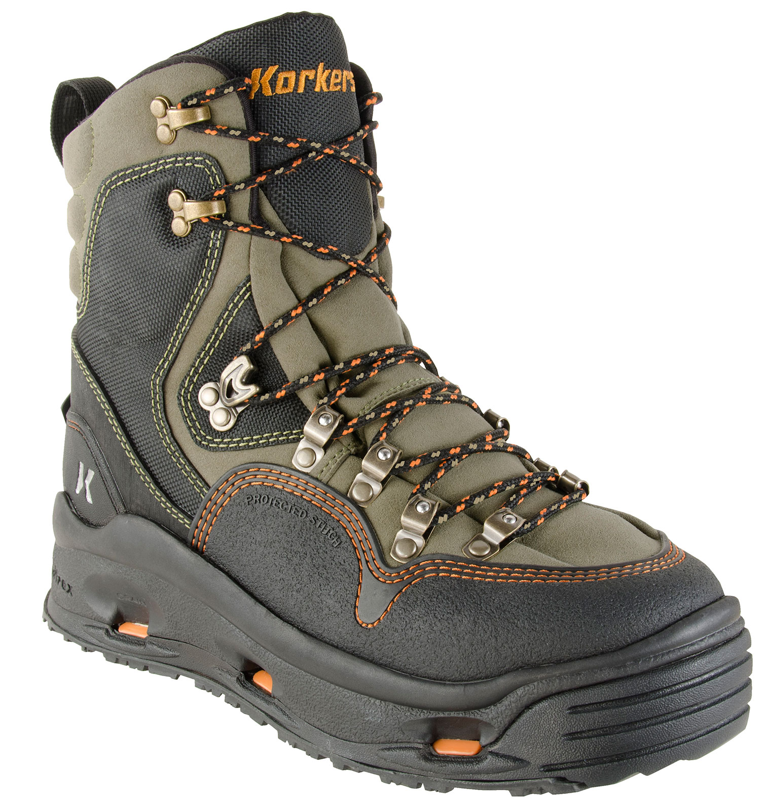 Korkers k 5 bomber fly fishing wading boot with felt and for Fly fishing wading boots