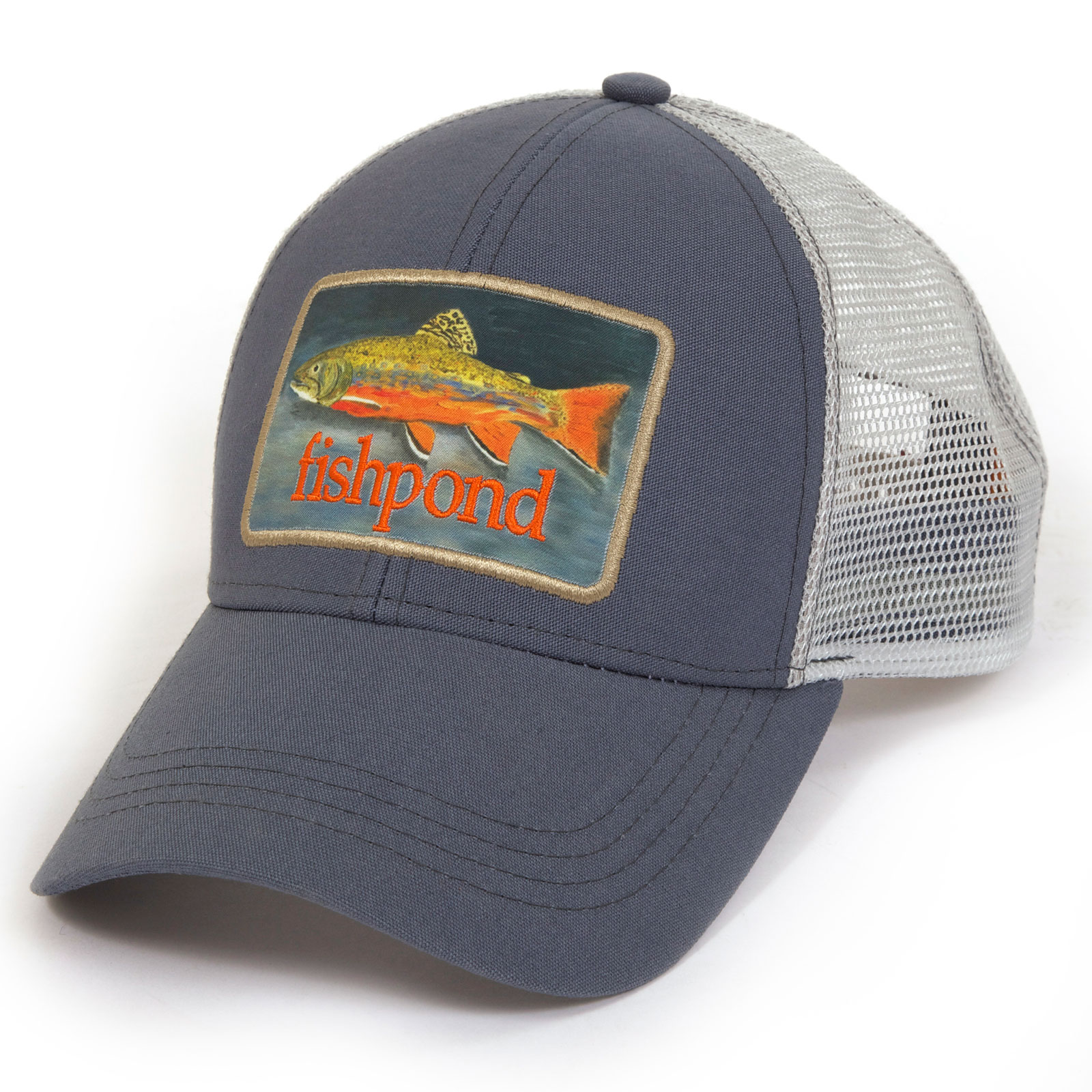 Fishpond brookie hat dusk trucker hat fly fishing baseball for Mesh fishing hats
