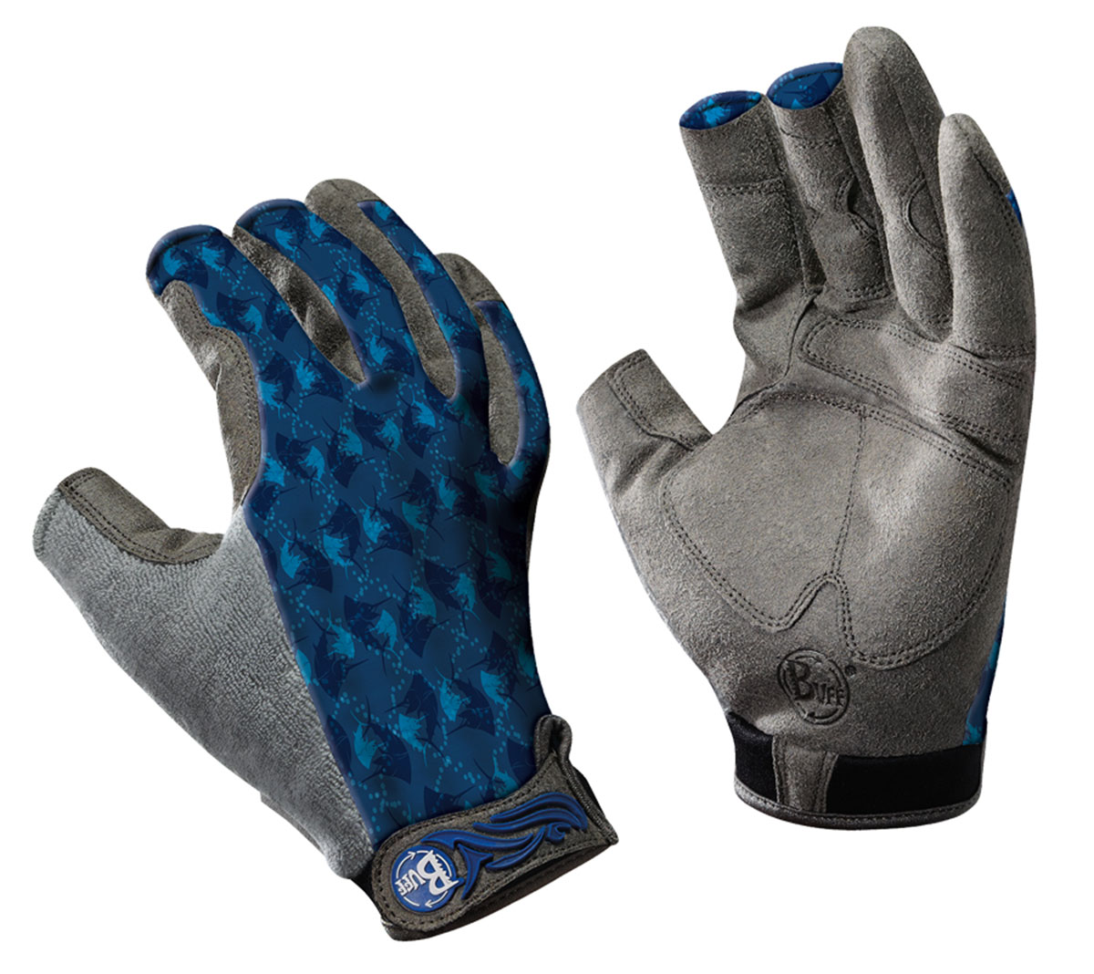 buff pro series fighting work gloves ii watersports fly