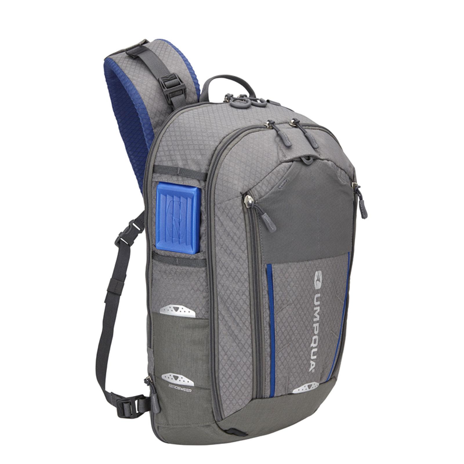 Umpqua ambi sling zs zero sweep fly fishing tackle gear for Fishing backpack tackle bag