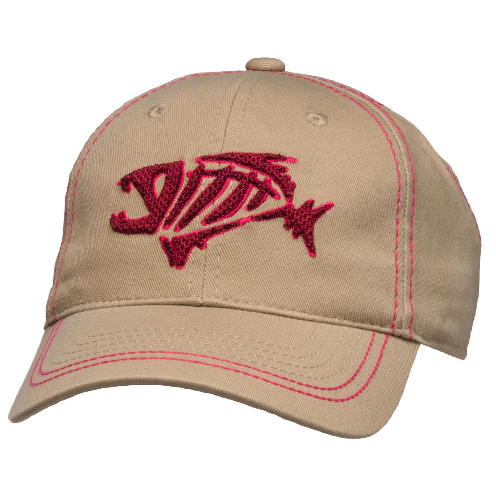 G Loomis Skeleton Fish Logo Women 39 S Khaki Cotton Cap One