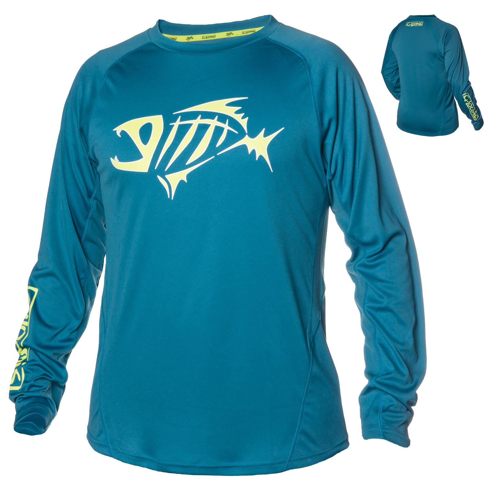 G loomis skeleton fish logo urso long sleeve uv protective for Uv fishing shirts