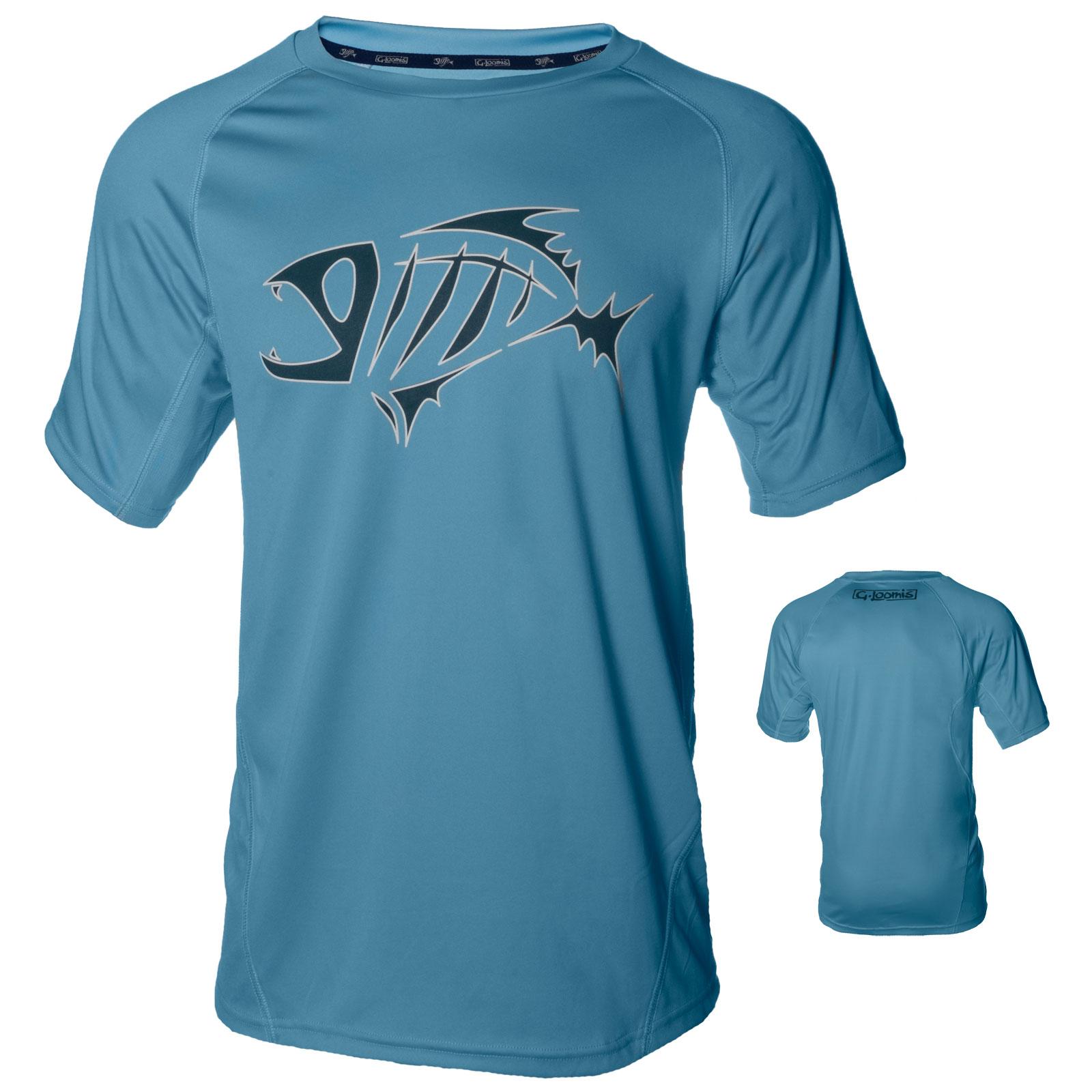 G loomis skeleton fish logo urso short sleeve uv for Uv fishing shirts