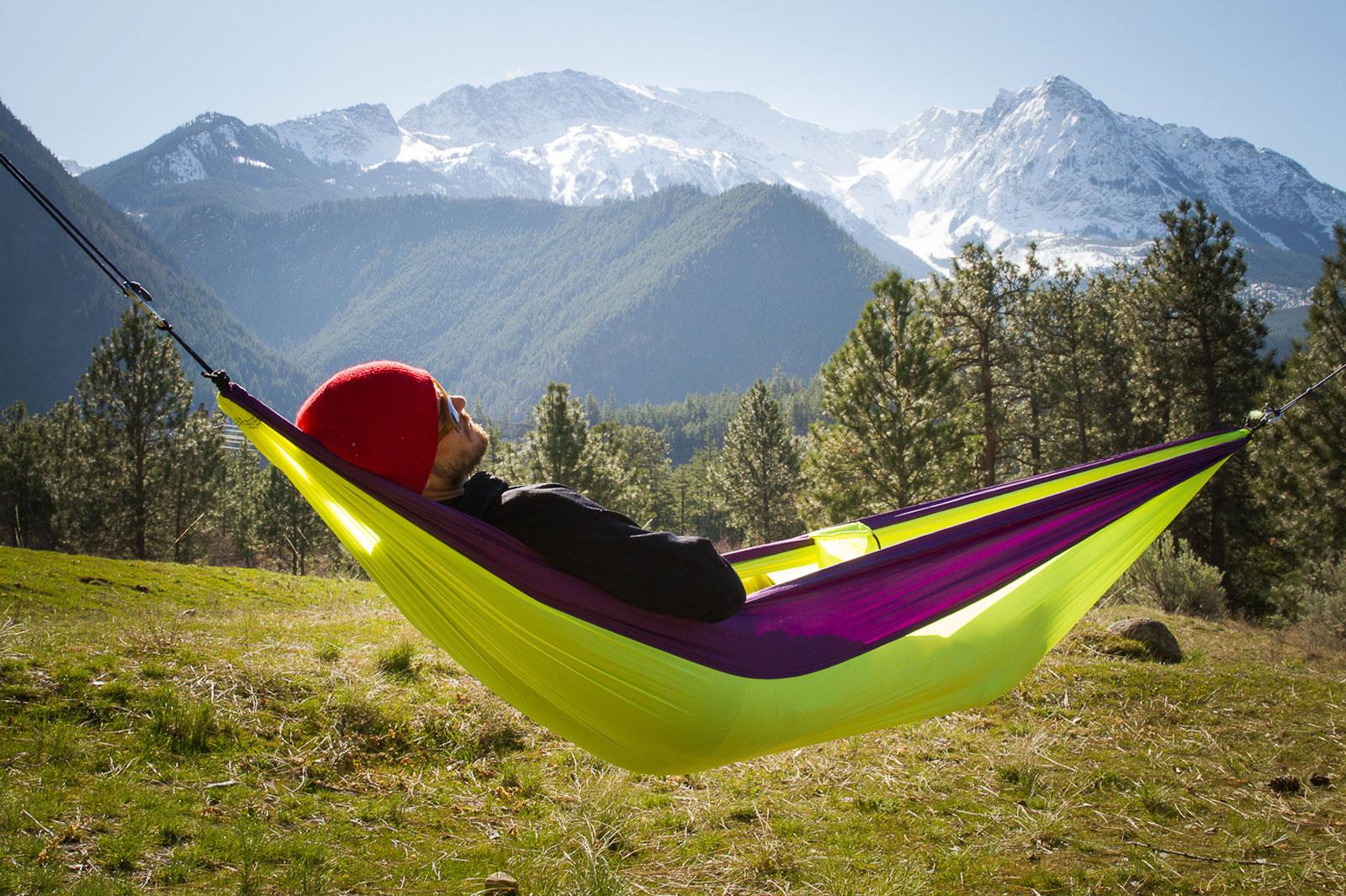 Grand Trunk Single Parachute Nylon Hammock Outdoor Camping ...