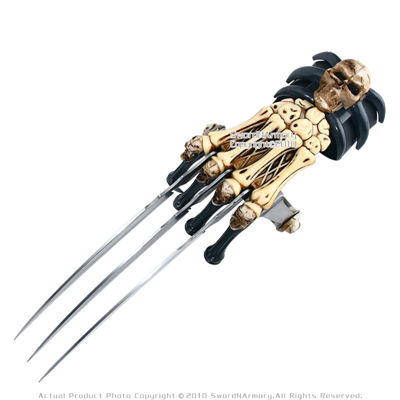 Zombie Gear Demon Bones Tri-Bladed Fantasy Hand Claw