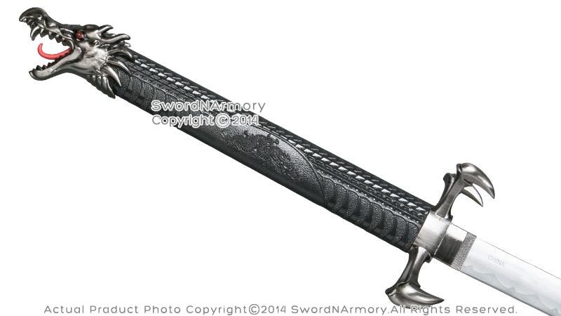 Black Torch Dragon Fantasy Samurai Katana Sword with Four Claws ...