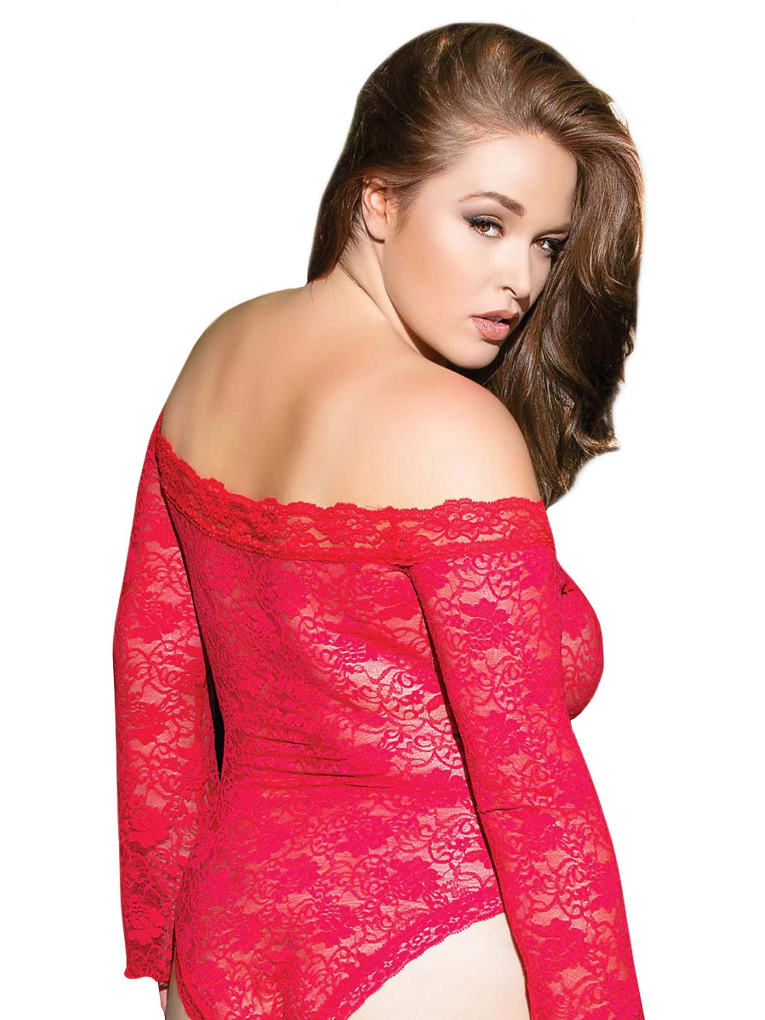 Plus Size BBW Lace Off Shoulder Teddy Lingerie- Fits Size 14-20 | eBay