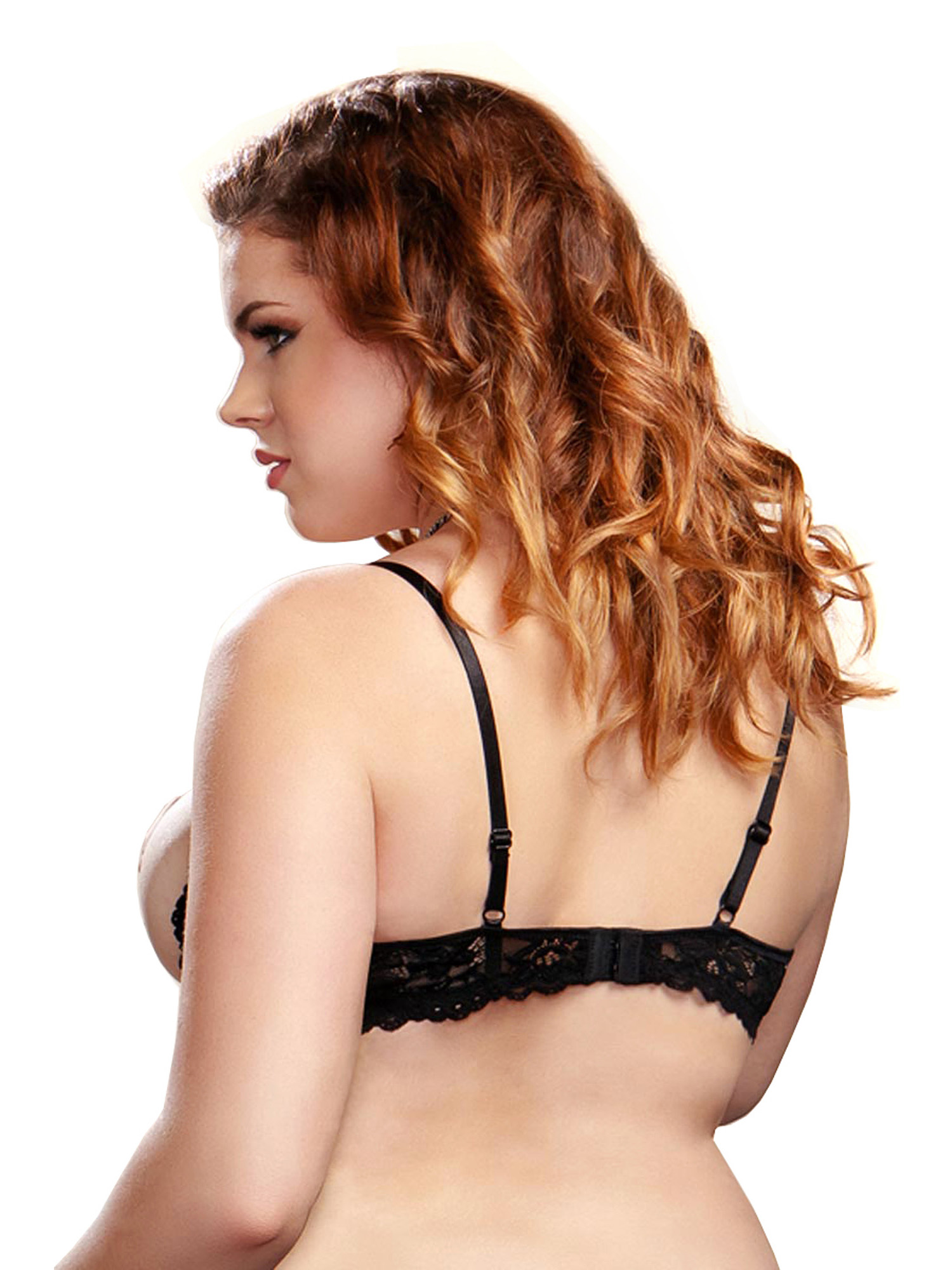 Plus Size Sexy Full Figure Underwire Lace Shelf Bra | eBay