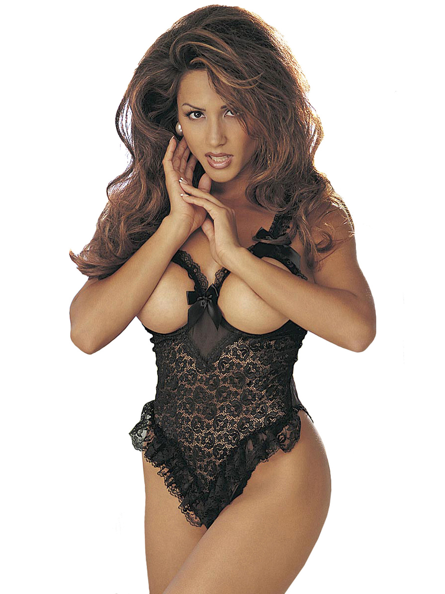 Plus Size Sexy Full Figure Lace Cupless Teddy Lingerie | eBay