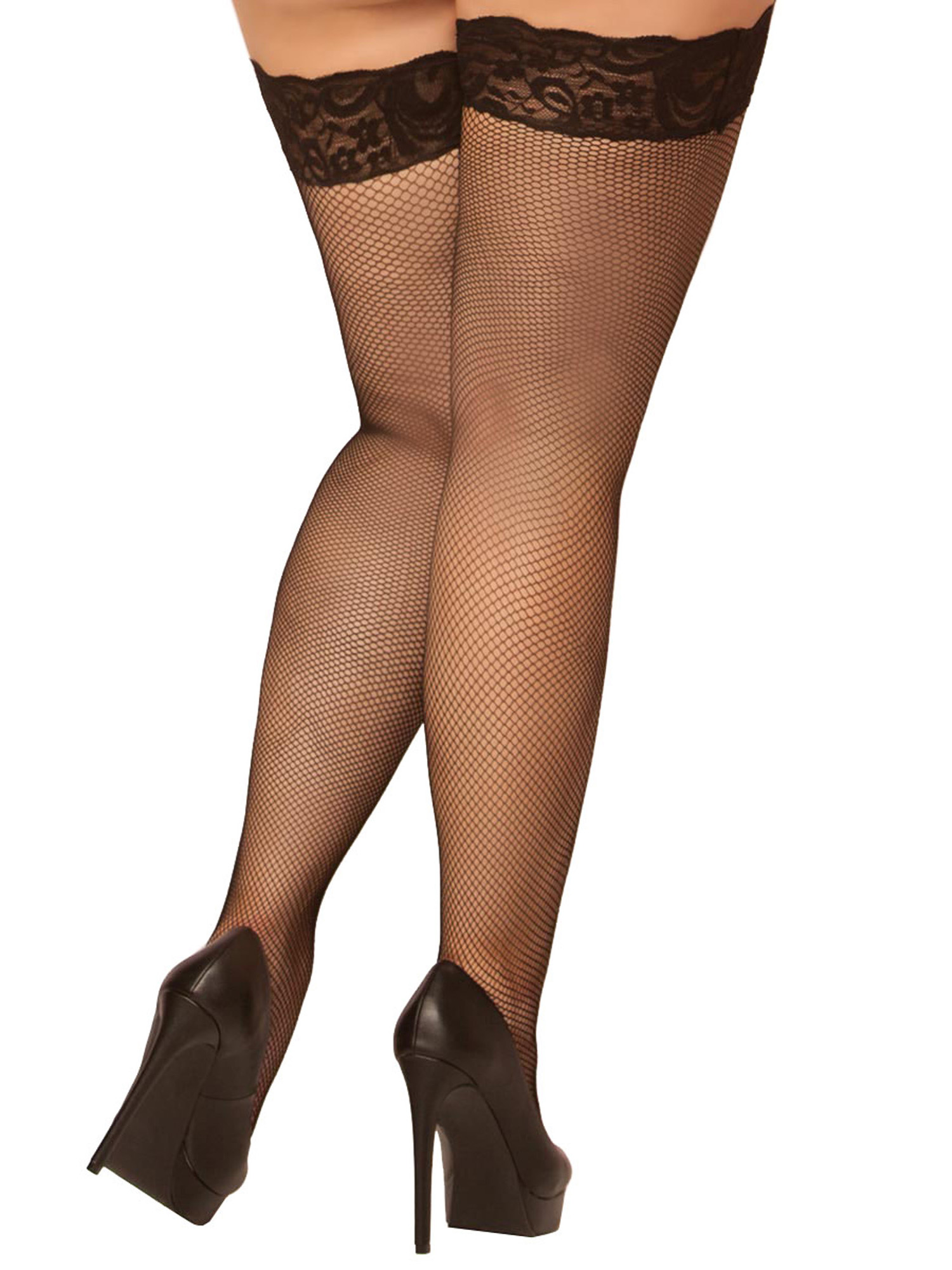 Plus size thigh high pantyhose that