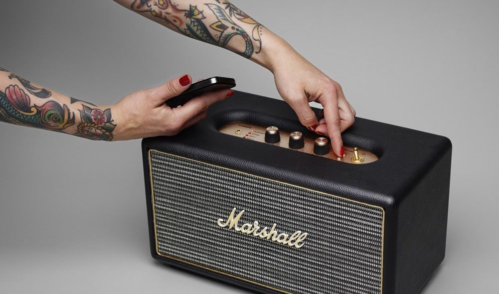 marshall stanmore wireless bluetooth stereo speaker system. Black Bedroom Furniture Sets. Home Design Ideas