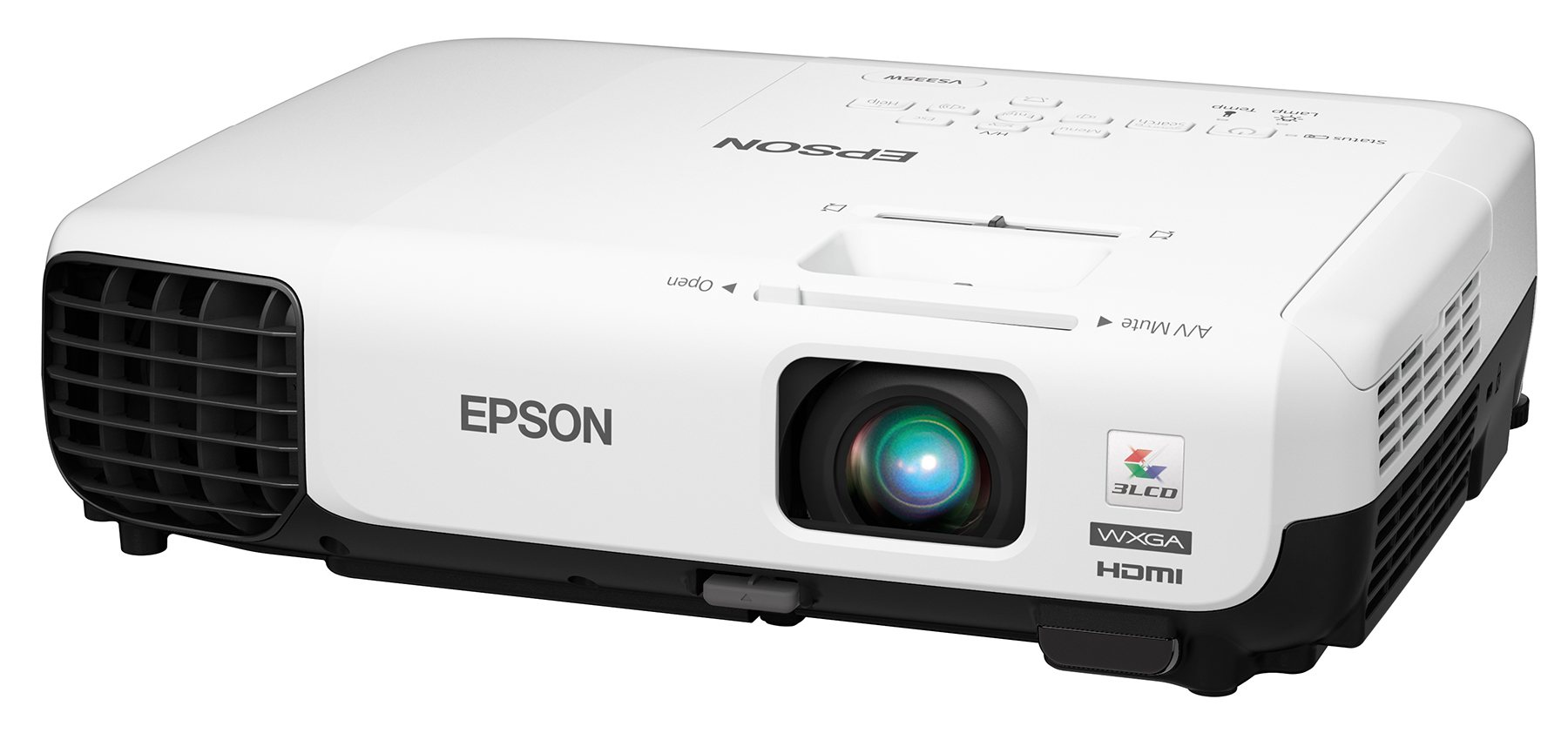Epson vs335 wxga 1280 x 800 3lcd widescreen hd projector for Smallest full hd projector