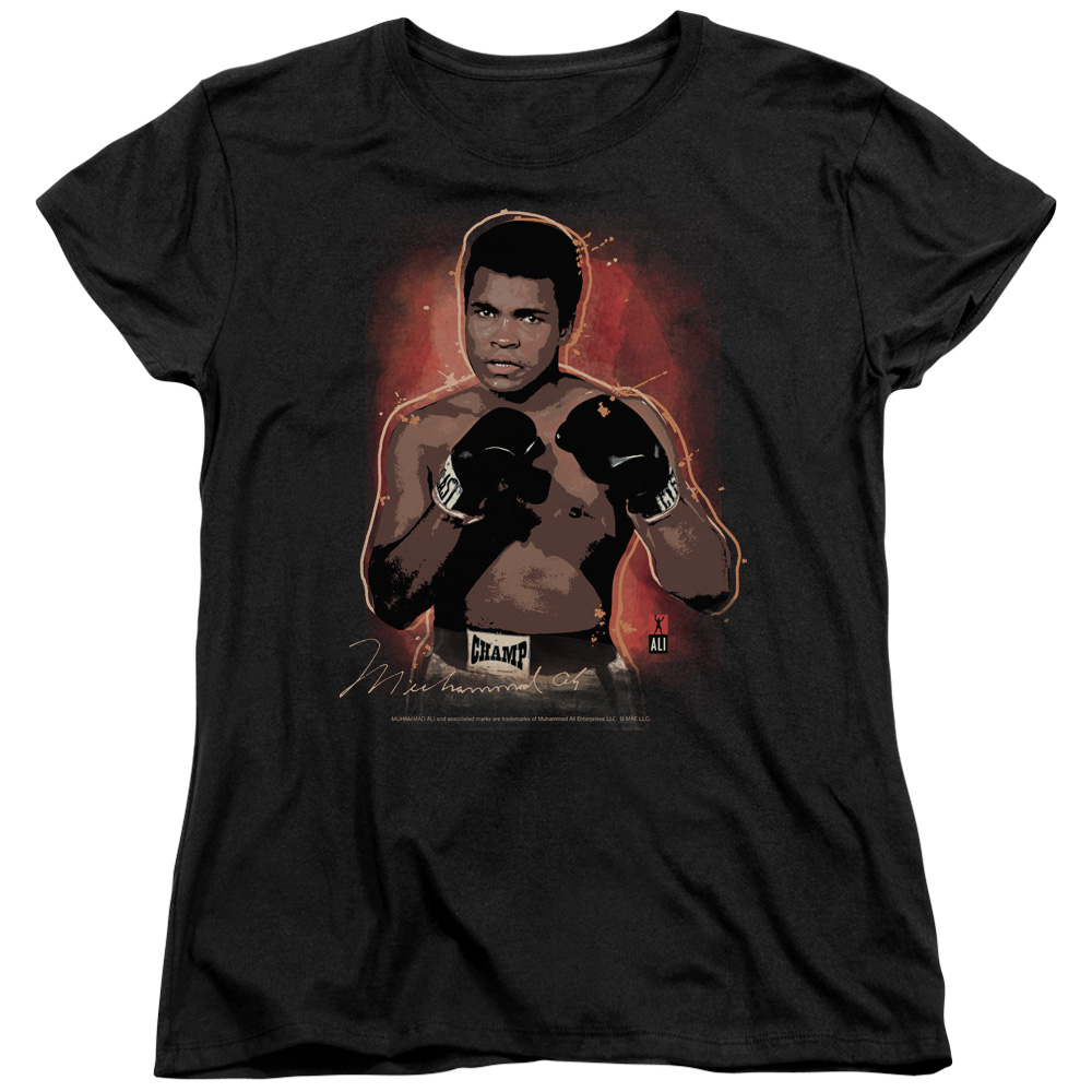 Muhammad Ali Cassius Clay Boxer Painted Women's T-Shirt Tee at Sears.com