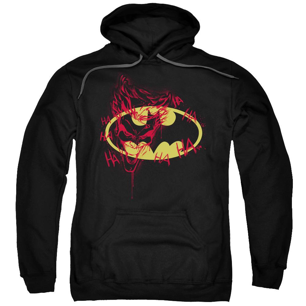 2Bhip Batman DC Comics Joker Graffitis the Bat Logo  Adult Pull-Over Hoodie at Sears.com